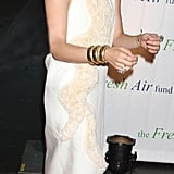Ashley Olsen wore a white embellished dress to the Fresh Air Fund's Spring Gala in NYC.