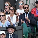 Carole and James Middleton at Day 11 of Wimbledon
