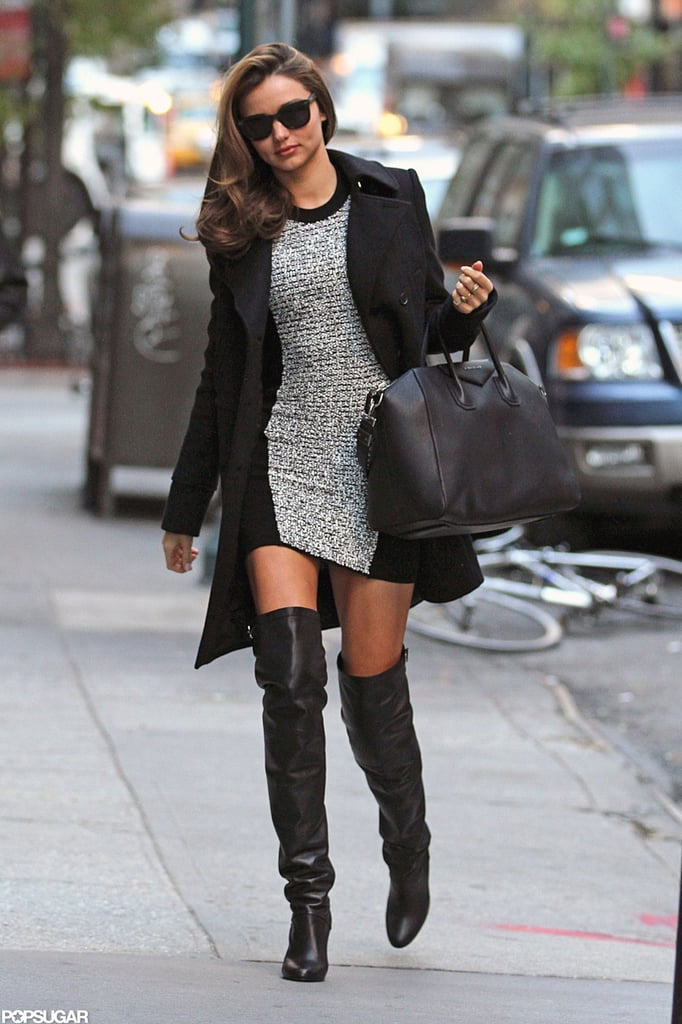 Miranda Kerr Wearing Thigh-High Boots in NYC   Pictures