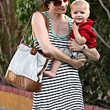 Selma Blair took baby Arthur to lunch with her in LA.