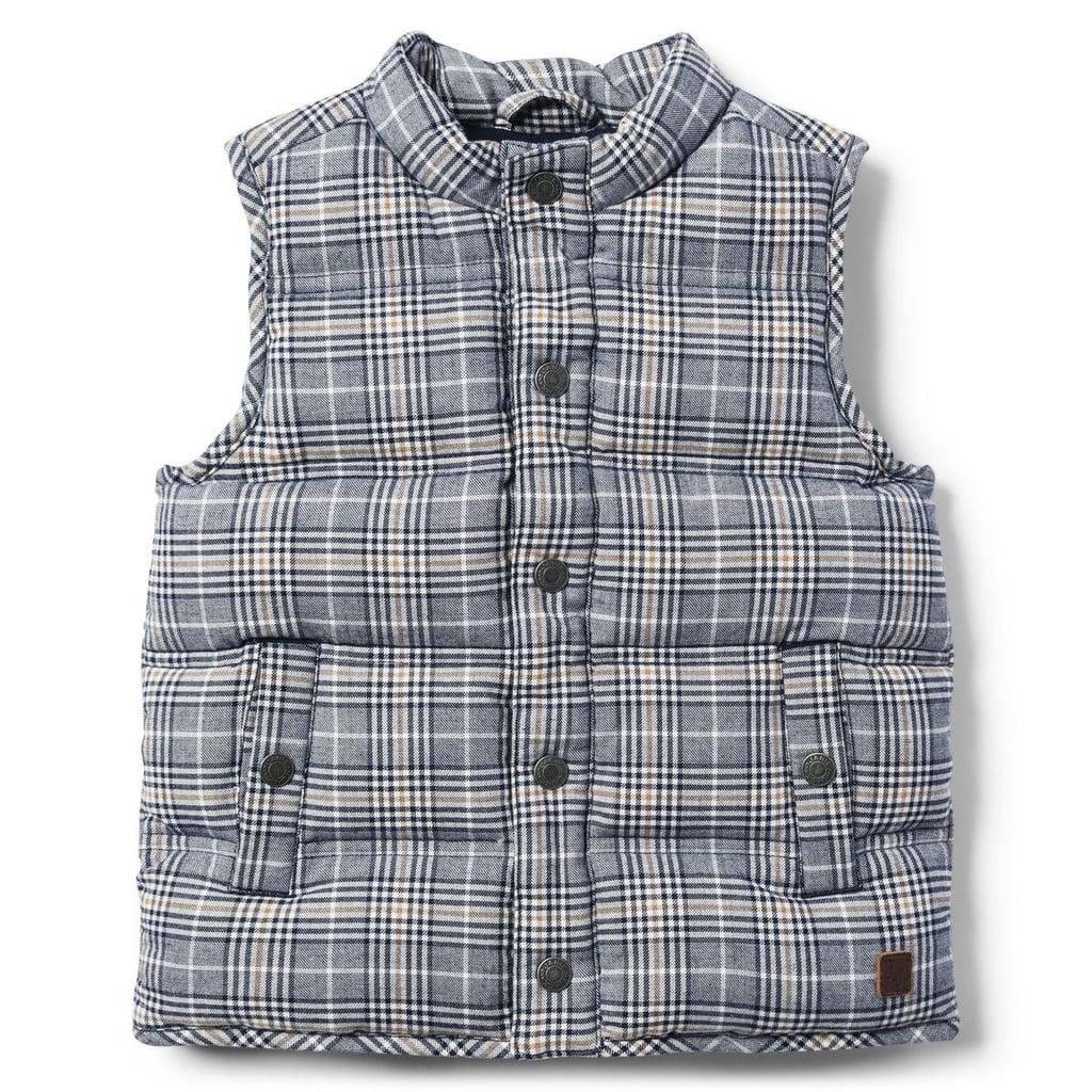 a283754ac9 Janie and Jack Plaid Puffer Vest