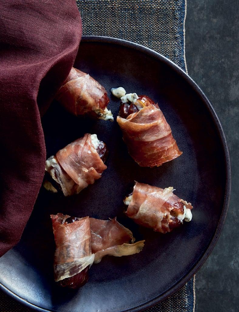 Antoni Porowski's The Perfect Bite — Medjool Dates With Blue Cheese, Marcona Almonds, and Prosciutto