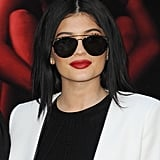 Kylie, too, walked the red carpet in a pair of sunglasses, but hers were aviators.