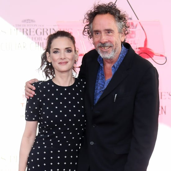 Winona Ryder and Tim Burton at Handprint Ceremony 2016