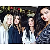 Selena Gomez hung out with friends.