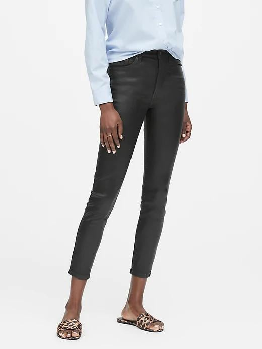 High-Rise Skinny Coated Jeans