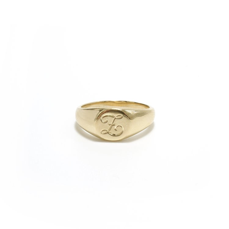 Ashley Zhang Classic Round Signet Ring ($560)