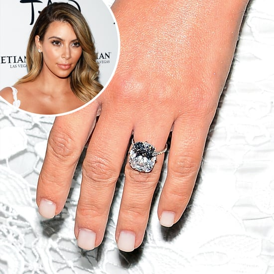 Kim Kardashian Engagement Ring And Manicure