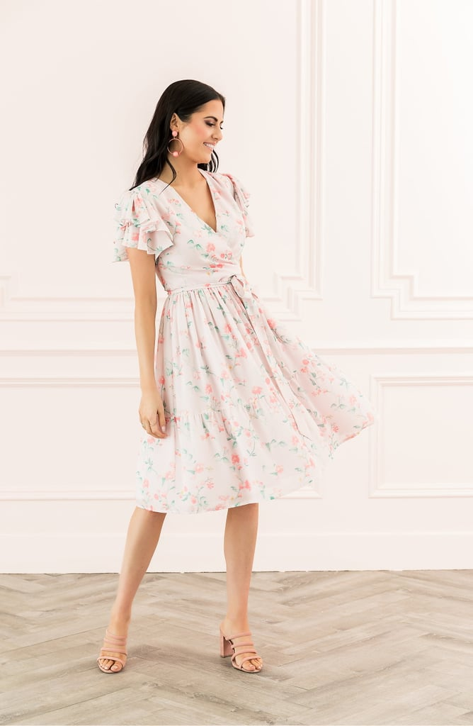 Rachell Parcell Tiered Ruffle-Sleeve Dress
