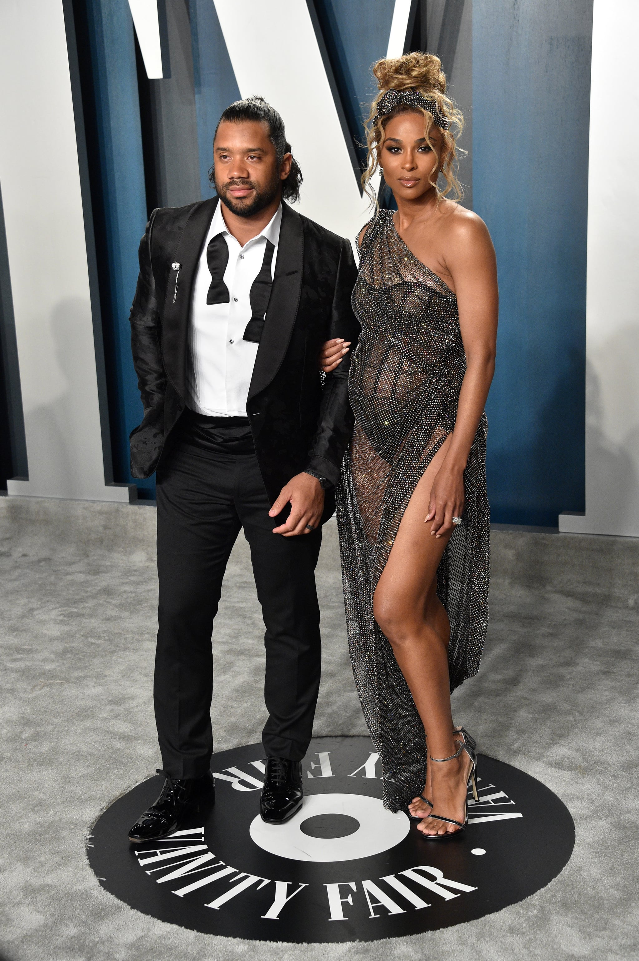 Image result for Ciara and Russell Wilson at oscars 2020