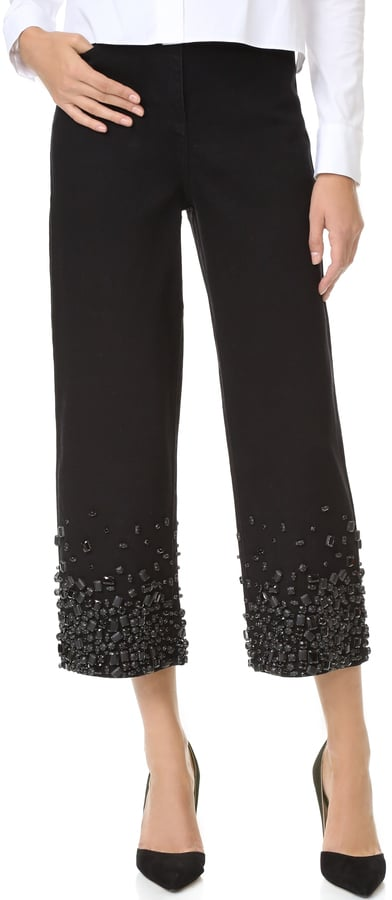 Tibi High Waist Embellished Jeans ($725)