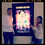 Ashley Tisdale and Scott Speer got excited about Step Up Revolution.  Source: Instagram user ashleytis
