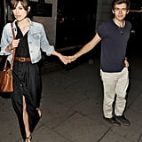 Keira Knightley and James Righton celebrated their engagement with a night out in London.