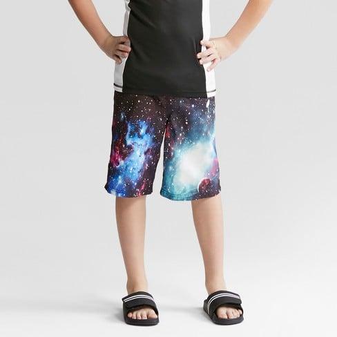 5d484eba71 Cat & Jack Boys' Galaxy Swim Trunks | Kids Swimsuits 2018 | POPSUGAR ...