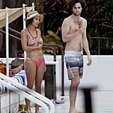 See Zoe Kravitz and Penn Badgley's Sexy PDA and Bikini-Filled Vacation!