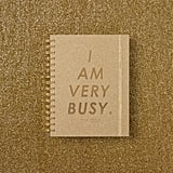 I Am Very Busy Gold Glitter Medium 17-Month Academic Planner