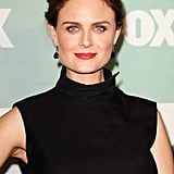 Zooey's older sister, Emily Deschanel, was also at the Fox party with her hair pulled into an updo. She went with a similar makeup look, but opted for a more bold red lipstick with a matte finish.