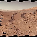A look back at a dune that the Curiosity rover drove across.  Source: NASA/JPL-Caltech/MSSS