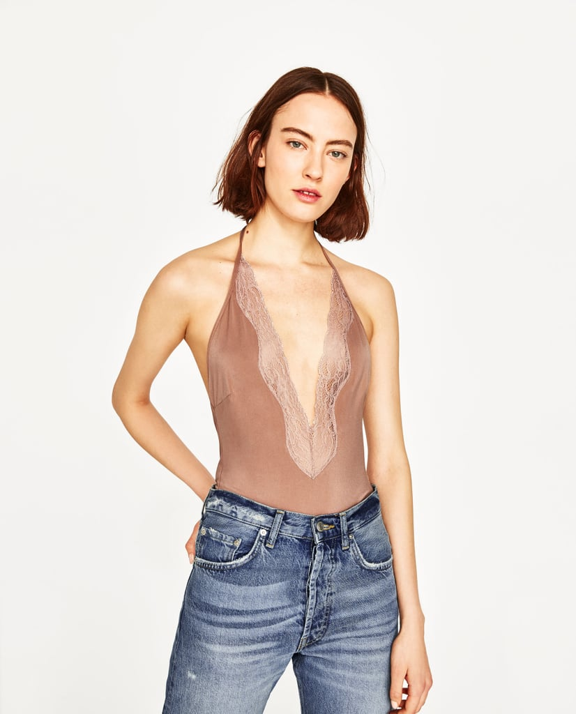 Zara's Halter Neck Swimsuit ($40) is also the perfect neutral bodysuit.