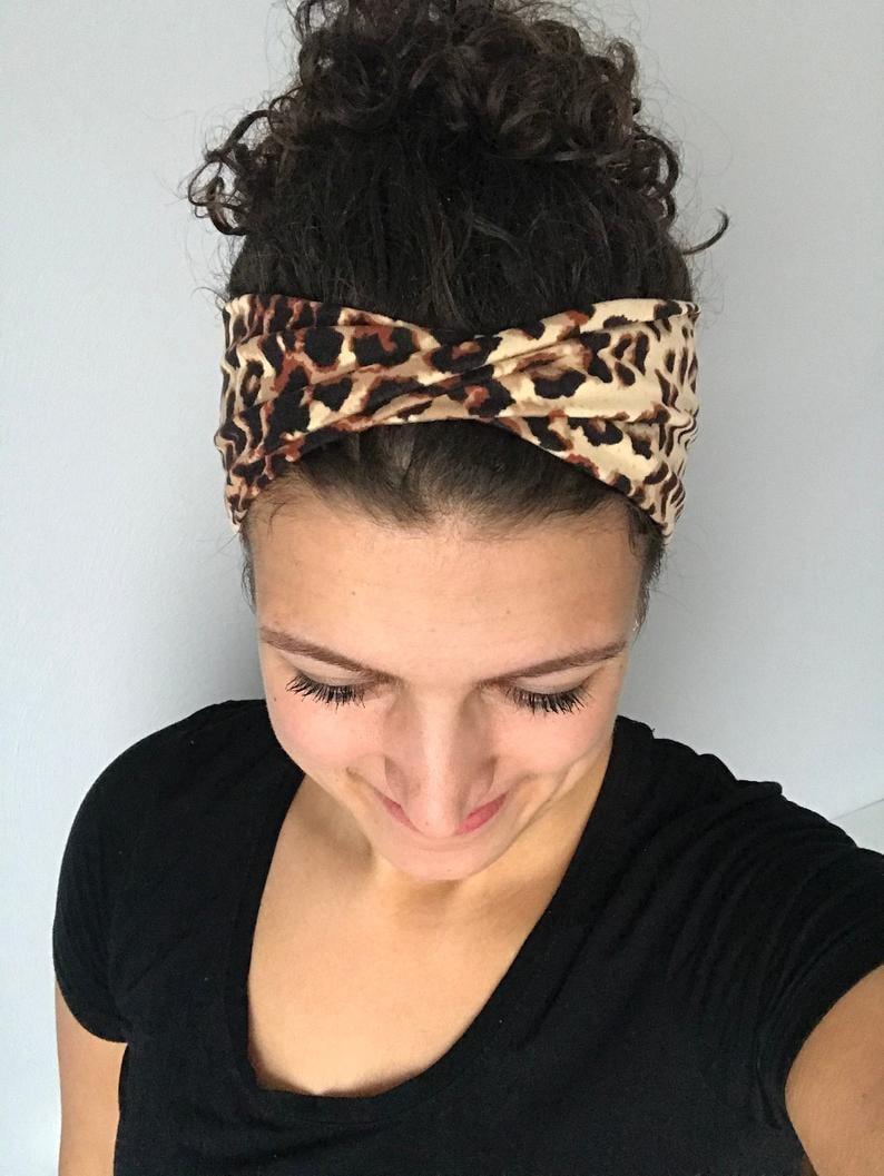 Cheetah Print Twisted Headband Adult