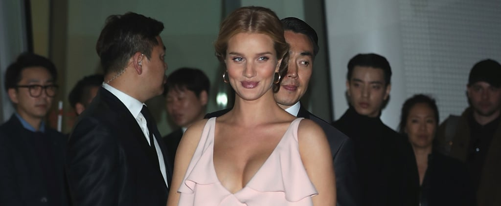 Rosie Huntington-Whiteley Just Wore the Most Romantic Blush-Hued Dress