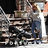 Sienna Miller wore distressed jeans.