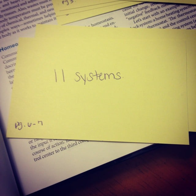 Write relevant page numbers on flash cards.