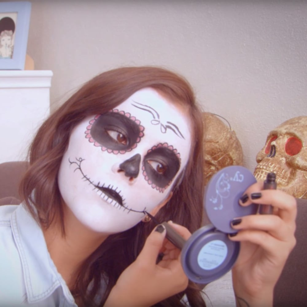 Day Of The Dead Popsugar Beauty - Day-of-the-dead-makeup-tutorial-video