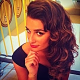 Lea Michele sported a retro look for an upcoming episode of Glee. Source: Instagram user msleamichele