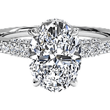 Ritani French-Set Diamond Band Engagement Ring