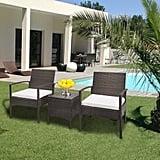 Zimtown 3-Piece Outdoor Patio Garden Wicker Furniture Rattan Sofa Set