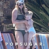 Hilary Duff celebrated Mother's Day weekend in a bikini with her son, Luca, in Mexico.