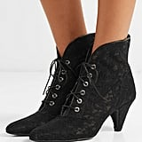 Laurence Dacade Sabrina Leather-Trimmed Lace Ankle Boots