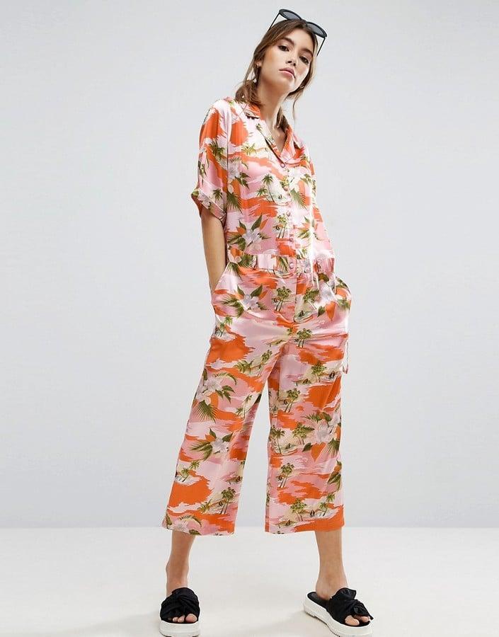 ASOS Oversized Pajama Jumpsuit