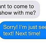Responding 10 hours later