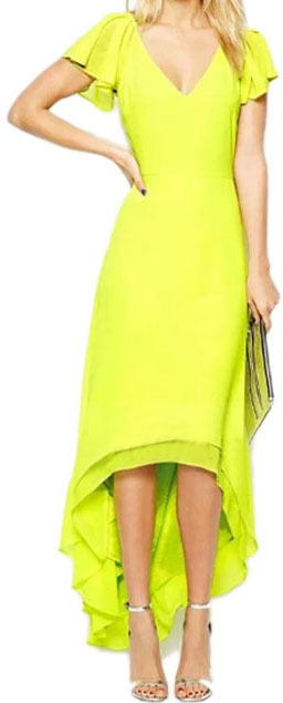 Romwe Yellow Dress