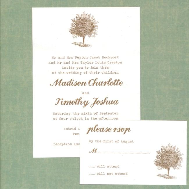 Tree of Life Wedding Invitation