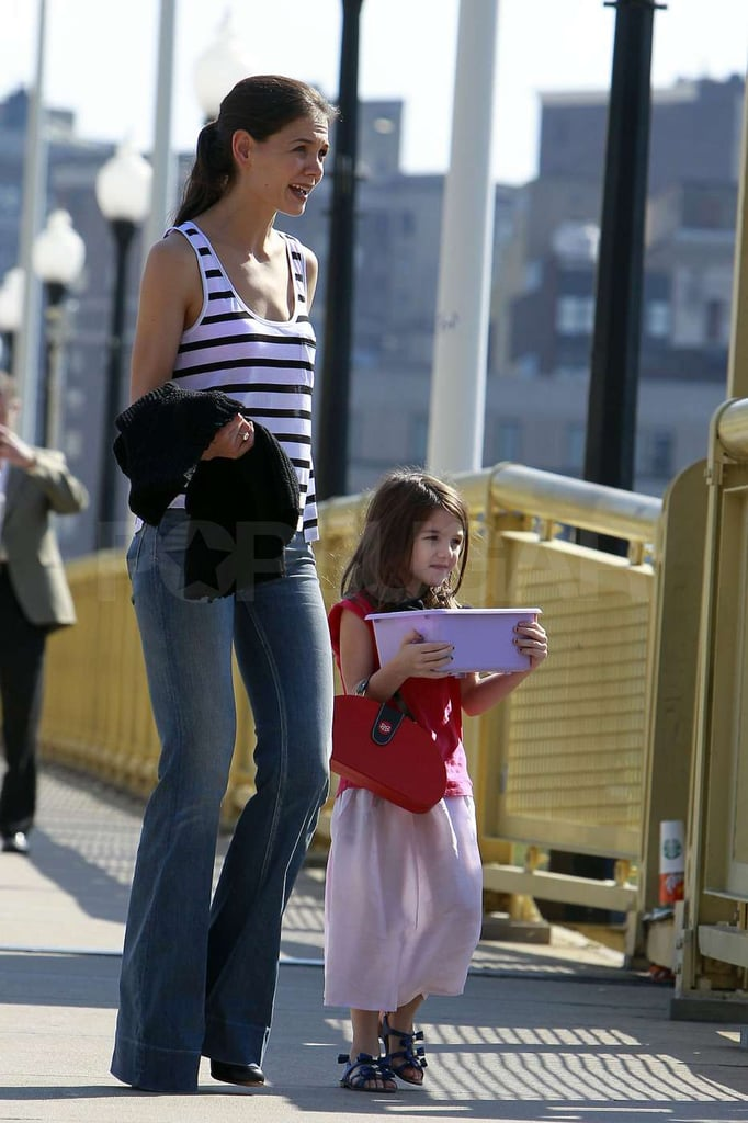 Suri Cruise and Katie Holmes stepped out in Pittsburgh.