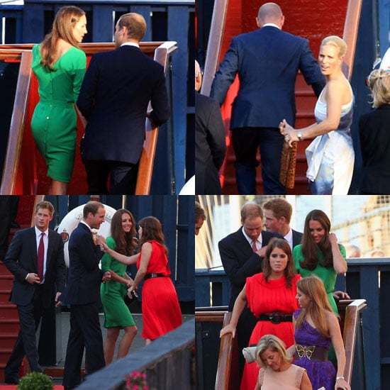 Kate Middleton Pictures With William at Zara's Wedding Cocktails