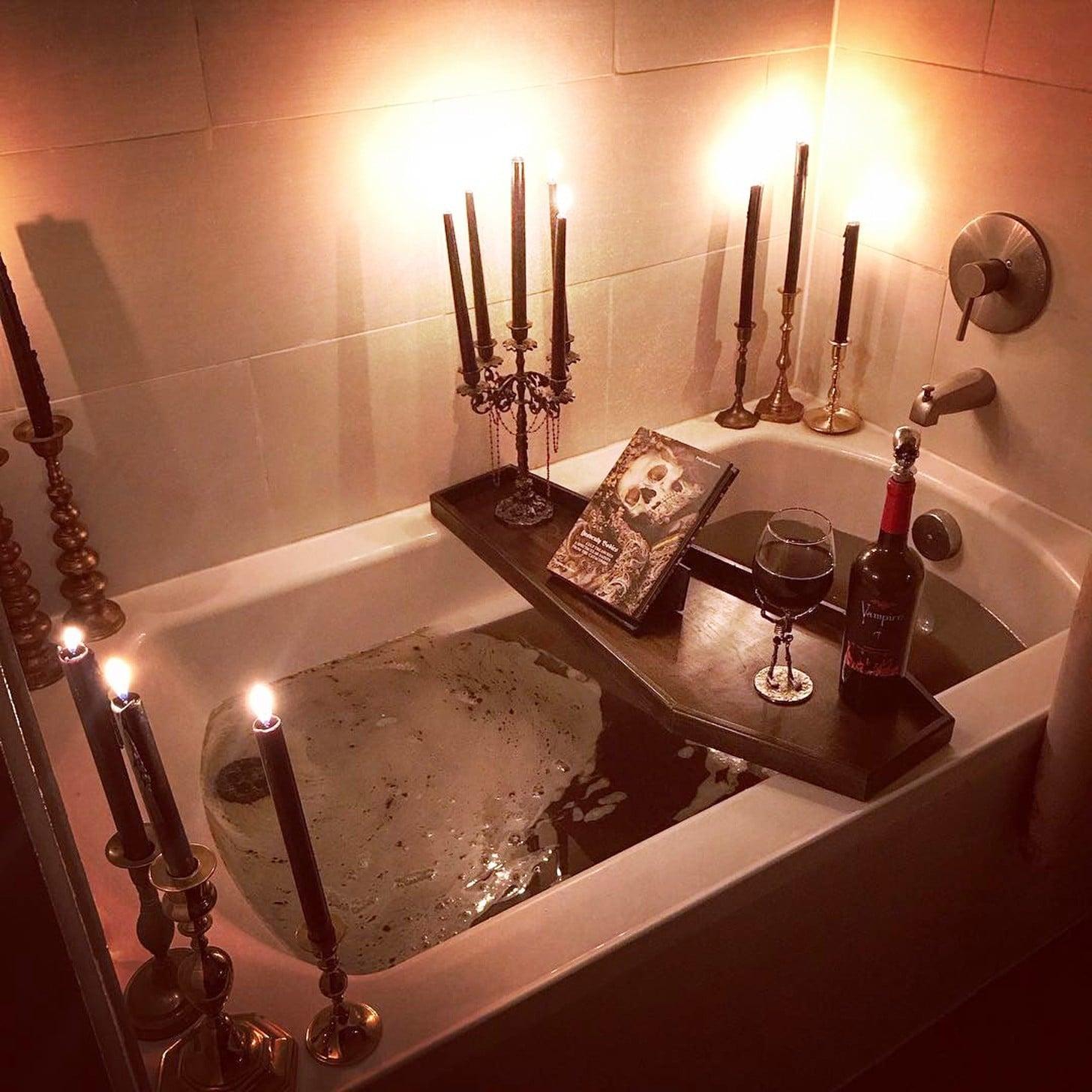 Coffin-Shaped Bath Tray | POPSUGAR Beauty