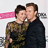 Costars Maggie Gyllenhaal and Ewan McGregor embraced at the opening night of The Real Thing on Broadway in NYC on Thursday.