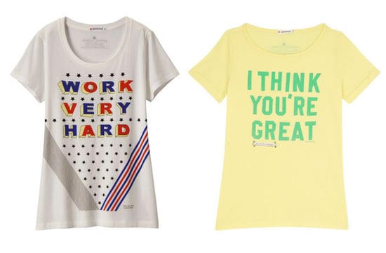 Antoni and Alison Printed Slogan T-shirts for Uniqlo Spring 2011