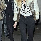 Kate Moss and Jamie Hince had a meal in London.