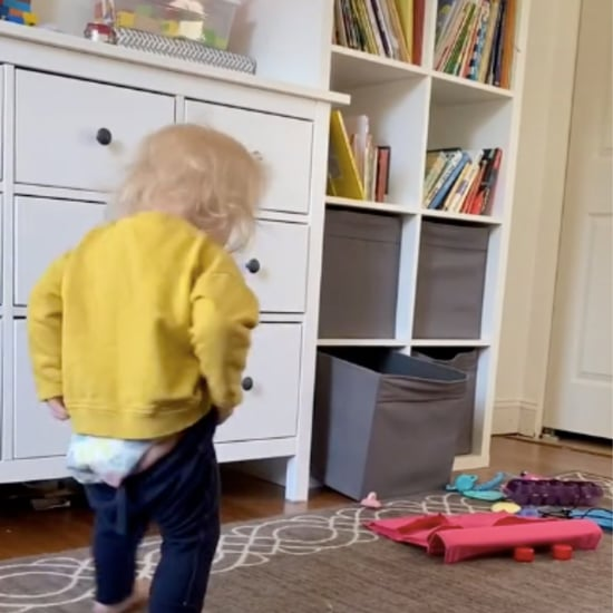 Funny TikTok Video of Toddler Trying to Put On Her Pants