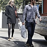 Emma Stone and Andrew Garfield picked up some reading material in LA.