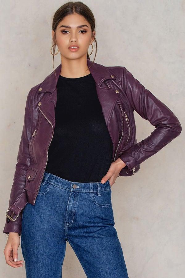 NA-KD Leather Moto Jacket