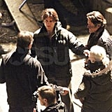 Pictures of Tom Cruise on Set