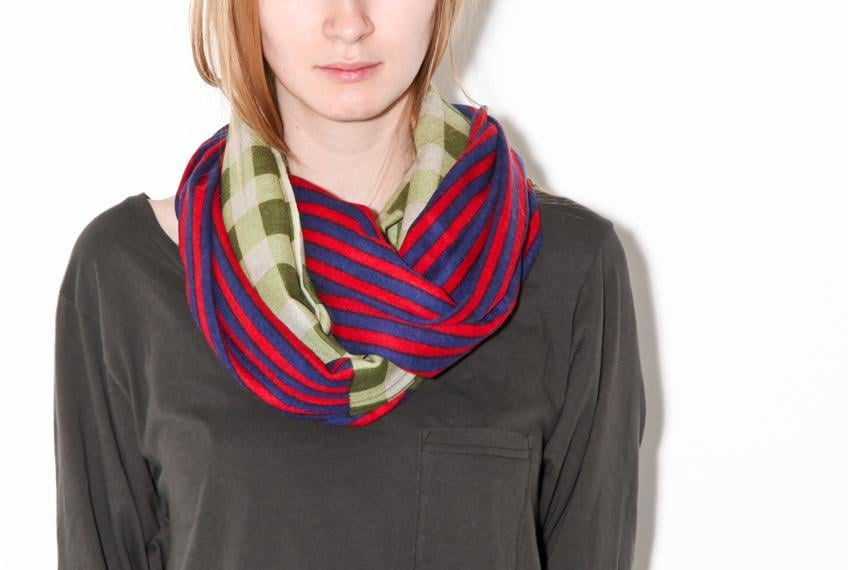 YARNZ Checks and Stripes Scarf ($110)