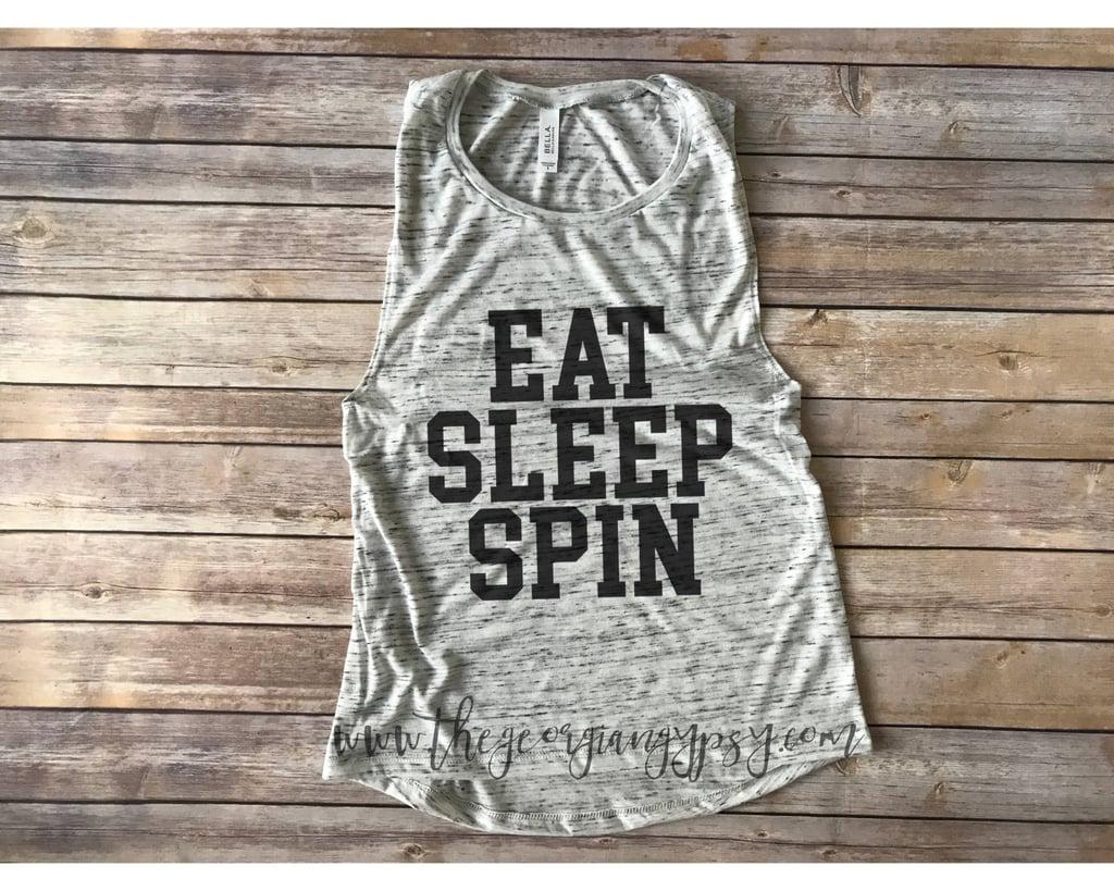 Eat Sleep Spin Tank Top