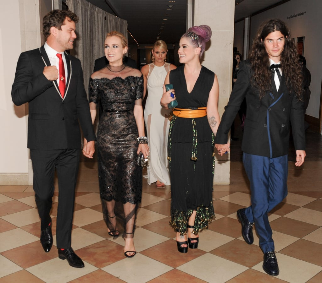Diane Kruger and Joshua Jackson made a coupled-up entrance with Kelly Osbourne and Matthew Mosshart.  Source: Billy Farrell/BFANYC.com